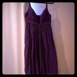 Nicole Miller Collection Silk & chiffon dress